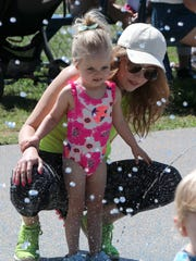 Claire Saluk of Nyack and her daughter, Norah, at the