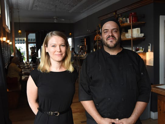 Shawna Chahanovich, left, and Juan Romero, right, co-owners