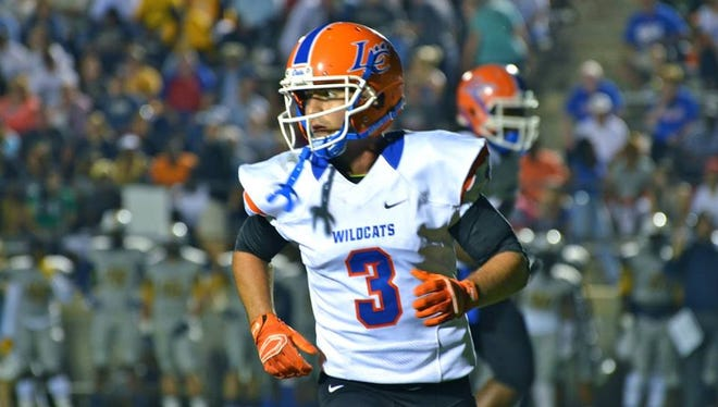 LC senior receiver Jake Dunbar played under his father, J.T., at Marksville and helped lead the Tigers to the LHSAA Class 3A semifinals in 2011.