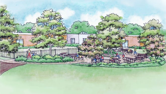 A rendering of the new Carol Clement Children's Garden & Playground at the Cleveland Street YMCA.