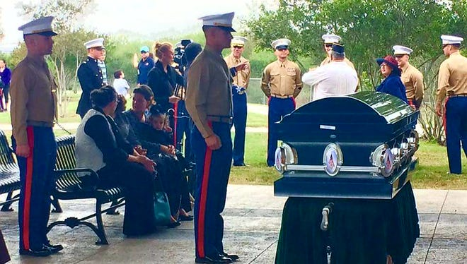 Two unaccompanied veterans were honored and buried Thursday at the Coastal Bend Veterans Memorial Cemetery.