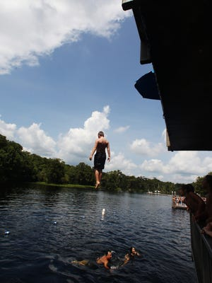 Take a jump from the diving tower at Wakulla Springs State Park.