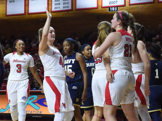 Marist College's Allie Clement looks to give Willow