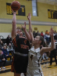 Hasbrouck Heights Kassie Ketcho (4) putting up a shot