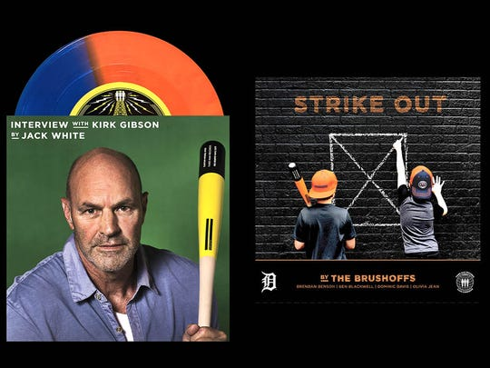 """The Detroit Tigers and Jack White have partnered for a new vinyl record released by his Third Man Records label, including a new song (""""Strike Out"""") and interview of Tigers great Kirk Gibson."""