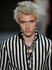 Rocker stripes figured heavily into John Varvatos fall-winter