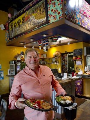 Arthur Gregory owns Pop's Garage, a Mexican restaurant in Shrewsbury. BOB BIELK/STAFF PHOTOGRAPHER