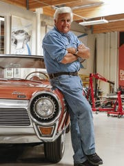 """Jay Leno's new show """"Jay Leno's Garage"""" is debuting at 10 p.m. Wednesday on CNBC. Despite the celebrities sprinkled into each episode, Leno said, the show isn't designed as a star vehicle."""