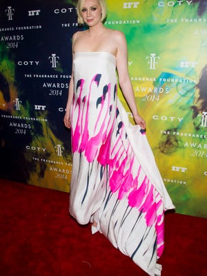 Gwendoline Christie attends the Fragrance Foundation Awards on Monday, June 16, 2014 in New York. (Photo by Charles Sykes/Invision/AP) ORG XMIT: NYCS107