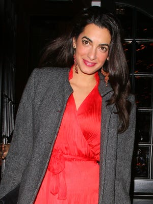 George Clooney's fiance Amal Alamuddin. Here she is in October 2013.
