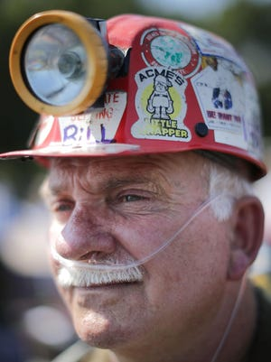 Retired miner Bill Rising of Indiana, Pennsylvania, is one of thousands attending Thursday's rally in Washington, D.C., urging Congress to protect health care and pension benefits for former coal miners and their families.