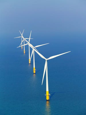 The UK's largest offshore wind farm is situated on the southern side of the outer Thames estuary.