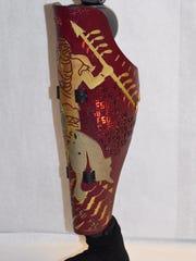 Dennis Janssen's FSU-themed prosthetic leg