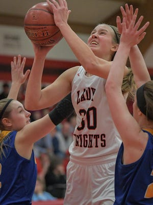 Lourdes Academy senior Katie Van Scyoc earned Player of the Year honors in the Trailways North fior the second straight season.