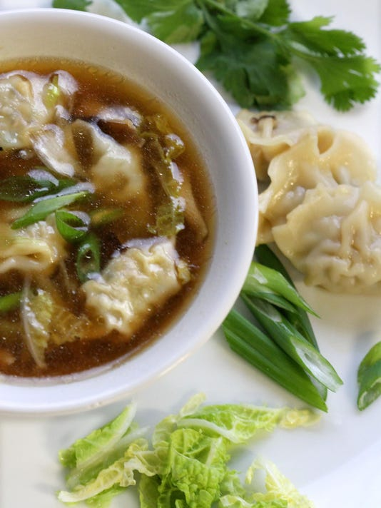 Test Kitchen recipe: Chicken cilantro wontons from freezer to soup in a flash
