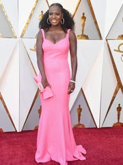 Viola Davis attends Sunday's 90th Academy Awards in