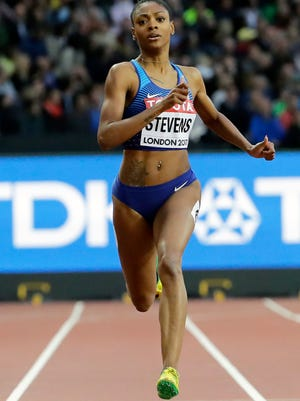 Deajah Stevens was suspended on Thursday for 18 months by the Athletics Integrity Unit after having three whereabouts violations in a year.