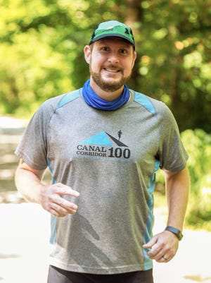 First-grade teacher Andrew Rosebaugh, 39, of Cuyahoga Falls recently completed his third 100-mile race, and used it as a fundraising vehicle for the Windham Student Food Pantry.