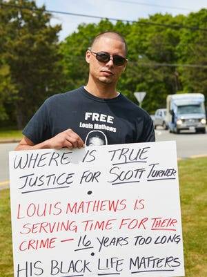 Louis Mathews III, of Falmouth, says his father, Louis Mathews Jr., was wrongly convicted in 2005 for the murder of Mashpee resident Scott Turner.