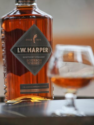 Scene during an I.W. Harper brand bourbon whiskey tasting at Bernheim Arboretum and Research Forest visitor center in Clermont, KY. Mar. 19, 2015