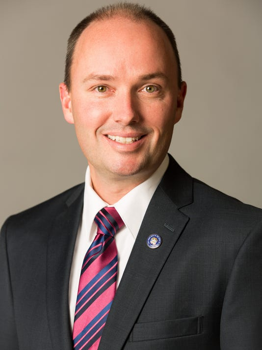 Lt. Gov. Spencer Cox photographed on location at the Utah State Capitol in 2013.