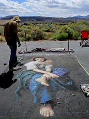 Professional artists from around the world brought their talents to the 2014 Kayenta Street Painting Festival at Coyote Gulch Art Village in Ivins City.