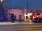 Detroit Fire Department crews responding to flames