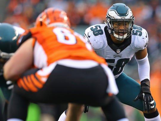 Philadelphia Eagles middle linebacker Jordan Hicks