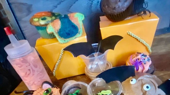 A Halloween cupcake-decorating kit is one of the items available online through the Gift of Warmth bake sale. The bake sale, organized by Christine Howard of Chelmsford and her organization, REBEL, will benefit The Community Table.