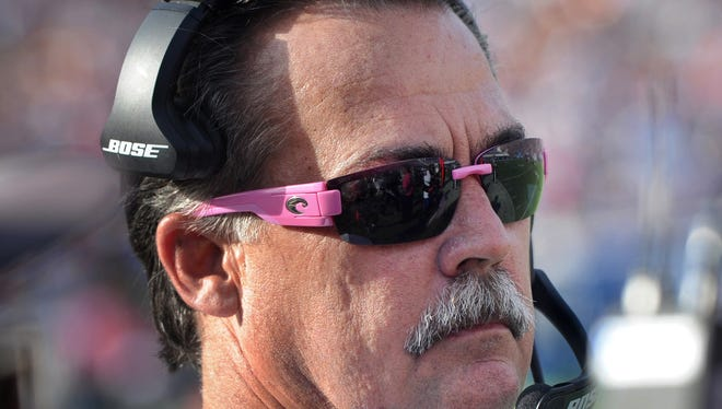Rams head coach Jeff Fisher, shown on the sidelines during the Rams' 30-19 loss to Buffalo last month, is in the final year of his contract.