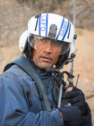 """Dwayne """"The Rock"""" Johnson in 'San Andreas.'"""