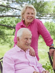 Robert Morgenthau and wife of nearly 38 years, Lucinda Franks, enjoy the outdoors at their home on the family's farm, Fishkill Farms, in Hopewell Junction.