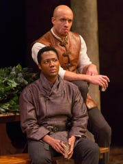 "Hubert Point-Du Jour (seated) and KeiLyn Durrel Jones in ""The Lion in Winter."""