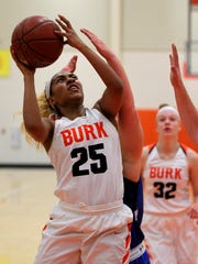 Burkburnett's Eternity Jackson takes the shot Thursday
