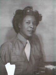 Dana Matthews' mother, Private Anne Miller, US Women's Army Corps in uniform.