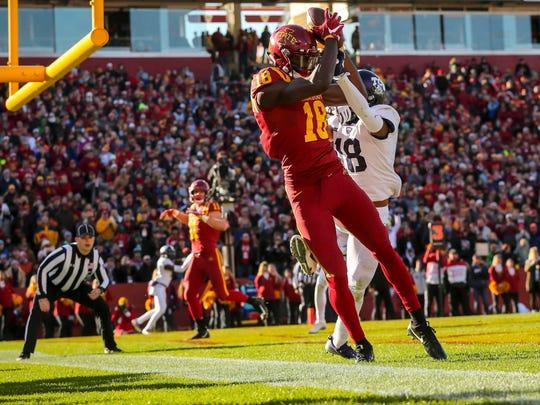 Iowa State Cyclones wide receiver Hakeem Butler (18)