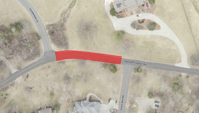 A portion of Johnson Chapel Road in Brentwood will be closed next week as crews replace a large culvert.