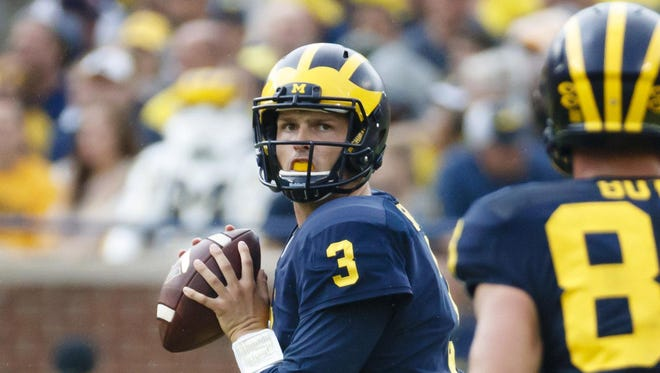 U-M quarterback Wilton Speight triumphed over pain on Saturday.