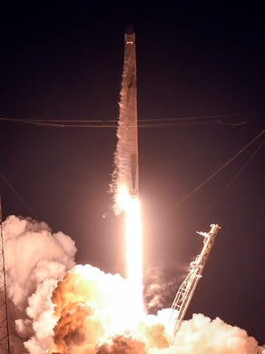 A SpaceX Falcon 9 rocket takes off from Cape Canaveral </span></p> </div> </div> <div class=