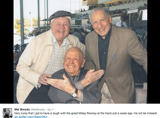 Mel Brooks and MIckey Rooney