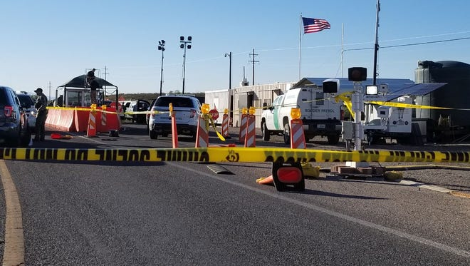 Border Patrol agents were involved in a shooting at a checkpoint north of Tombstone on May 17, 2017.