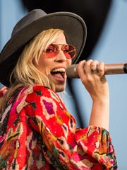 Natasha Bedingfield performs as Train's Play That Song Tour came to Hersheypark Stadium on Saturday, June 17, 2017. The tour feature Train, O.A.R and Natasha Bedingfield.