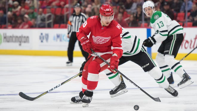 Tyler Bertuzzi has played over 15 minutes just once in the past five games for the Red Wings.