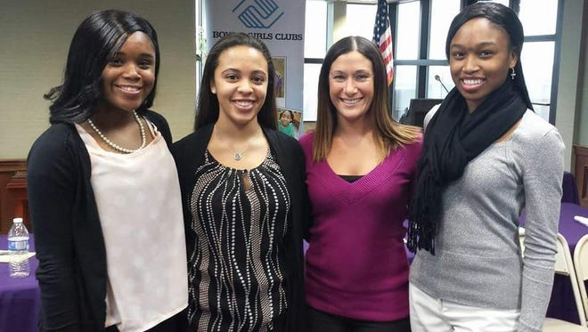 Kelly Davis, second from right, interim executives director for the Boys & Girls Clubs of Rutherford County, stands with, from left, Destini Pitts, Melia Carter and Tiphani Pitts.