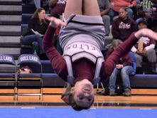 Flipping out: Competitive cheerleaders work to master the back tuck