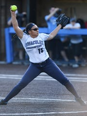 High school softball state Tournament of Champions final between Immaculate Heart Academy and Immaculate Conception at  Seton Hall University in South Orange on Friday, June 9 2017. IC pitcher #15 Caylee English.