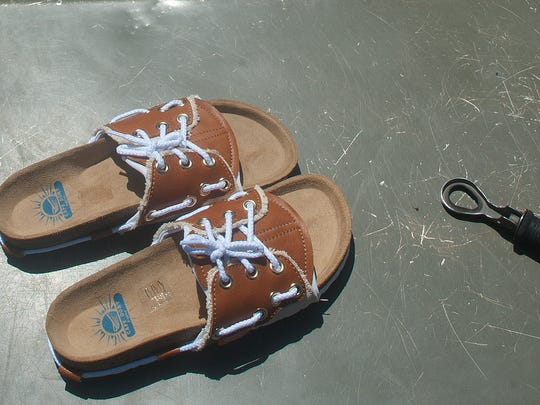 Shane Pisko's new shoe design, The Dory, is meant to combine the best of boat shoes and sandals.