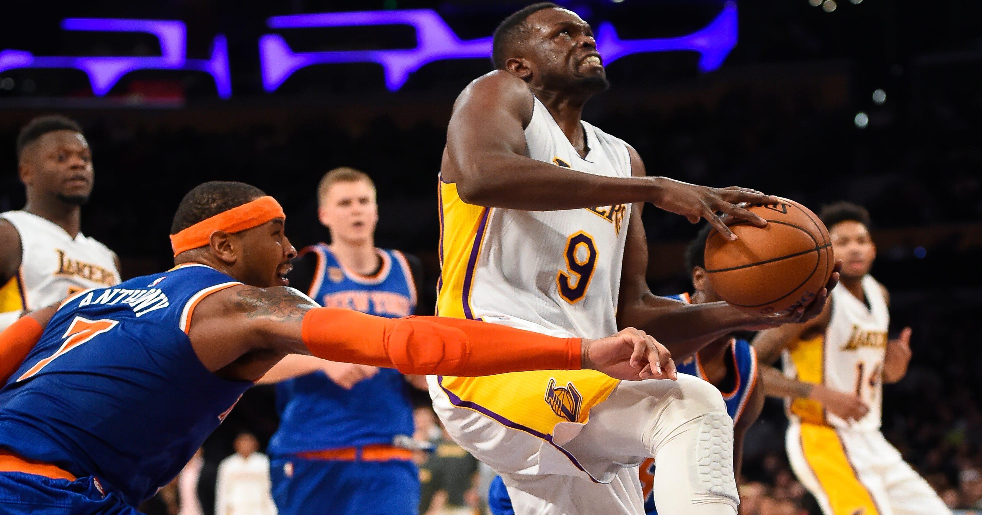 cf64d07b71e Lakers waive F Luol Deng midway through $72 million deal
