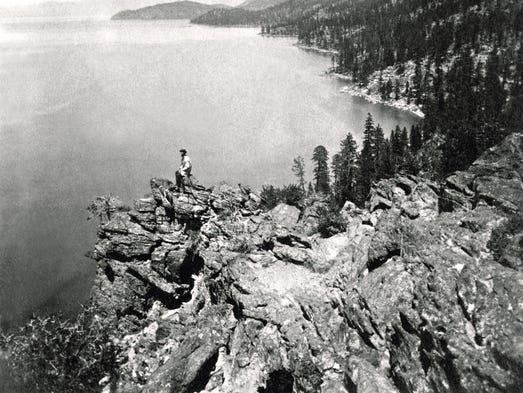Charles Leander Weed, View from the Top of Cave Rock—Eastern