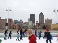 Skaters of all ages hit the ice  at the Brenton Skating Plaza.